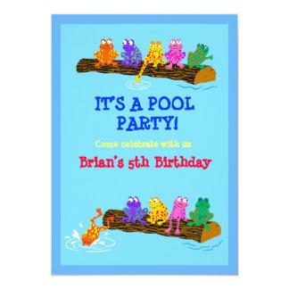 """¡Fiesta en la piscina! Invitación 5"""" X 7"""""""