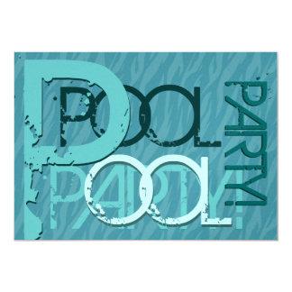 Fiesta en la piscina moderna del Bbq de la Invitación 12,7 X 17,8 Cm