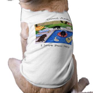 Fiesta en la piscina personalizada Labradors Playera Sin Mangas Para Perro