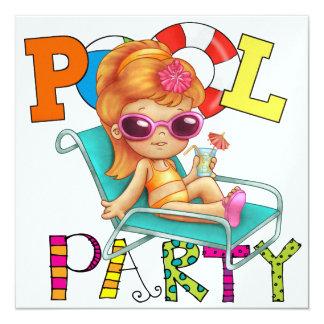 Fiesta en la piscina - SRF Invitacion Personalizada