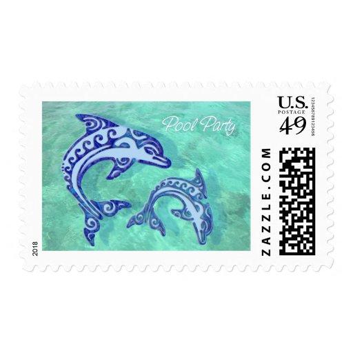 Fiesta en la piscina tribal del dúo de la masopa sellos postales
