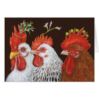 Fiesta en la tarjeta del gallinero (cosecha)