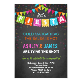 Fiesta Engagement Party Invitation