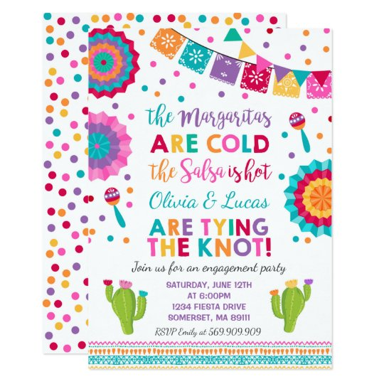 fiesta engagement party invitation mexican party zazzle com