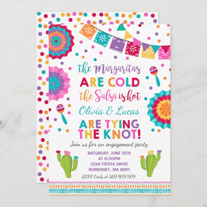 Qty 25 Mexican Fiesta Invitation Couples Shower Mexican Party Invitation Wedding Fiesta Invitation Rehearsal Dinner Invitation wenvelopes