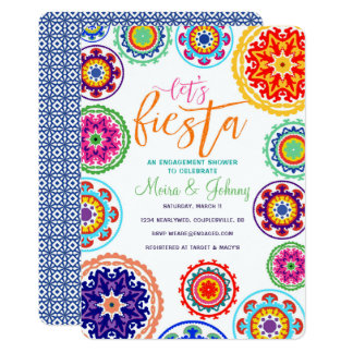 Fiesta Engagement Shower Invitation