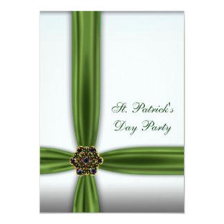 Fiesta esmeralda verde del día del St. Patricks de Invitacion Personal