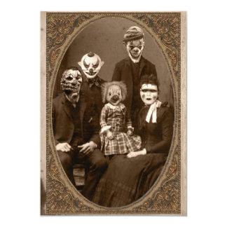 """Fiesta espeluznante de Halloween de la familia del Invitación 5"""" X 7"""""""