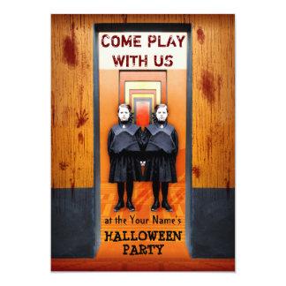 """Fiesta espeluznante de Halloween del horror de los Invitación 5"""" X 7"""""""