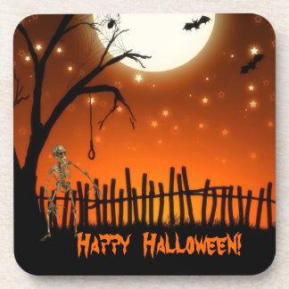 Fiesta espeluznante y asustadizo de Halloween Posavaso