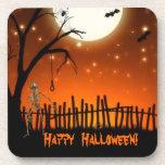 Fiesta espeluznante y asustadizo de Halloween Posavasos De Bebida