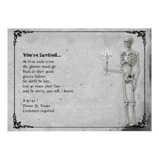 Fiesta esquelético de Halloween del vintage