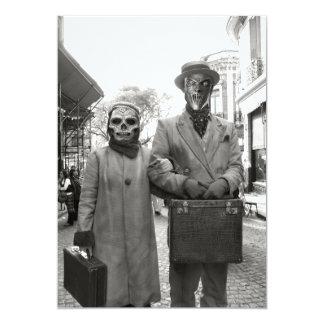 """Fiesta extraño de Halloween de los pares del Invitación 5"""" X 7"""""""