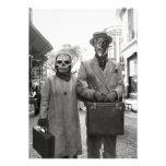 Fiesta extraño de Halloween de los pares del vinta Anuncios