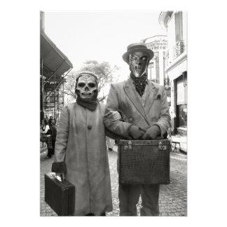 Fiesta extraño de Halloween de los pares del vinta