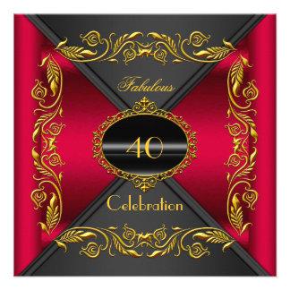 Fiesta fabuloso del oro negro elegante del rojo ce anuncio