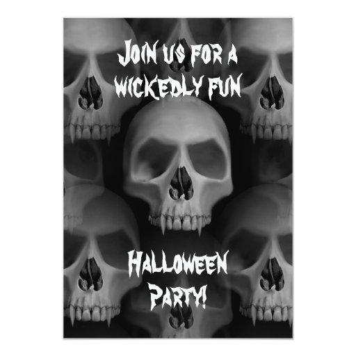 """Fiesta fanged mal gótico del horror de Halloween Invitación 5"""" X 7"""""""
