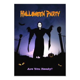"""Fiesta fantasmagórico de Halloween de la calabaza Invitación 5"""" X 7"""""""