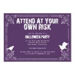 Fiesta fantasmagórico de Halloween Comunicados Personalizados
