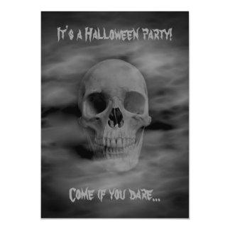 """Fiesta fantasmal del cráneo 5x7 del horror de invitación 5"""" x 7"""""""