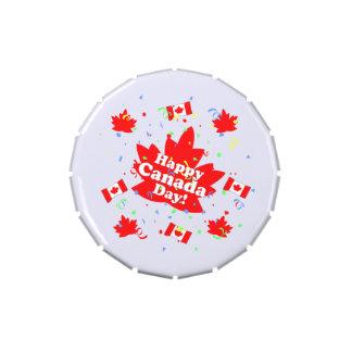 Fiesta feliz del día de Canadá Latas De Caramelos