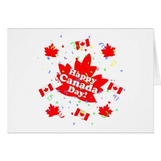 Fiesta feliz del día de Canadá Tarjeta De Felicitación