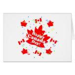 Fiesta feliz del día de Canadá Tarjeton
