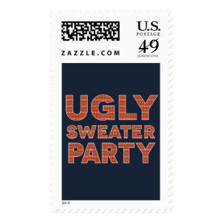 Fiesta feo del suéter timbres postales