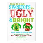 Fiesta feo y brillante de los suéteres del navidad comunicado personal