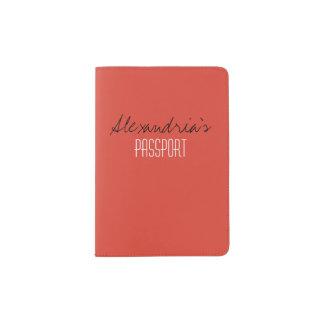 Fiesta Fiery Bright Red Solid Color Custom Passport Holder