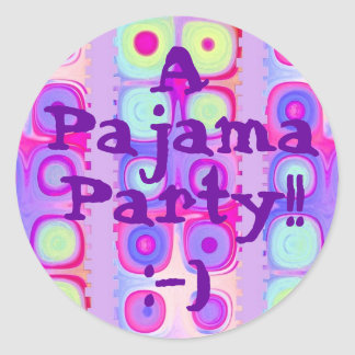 FIESTA - fiesta de pijama con el pegatina festivo
