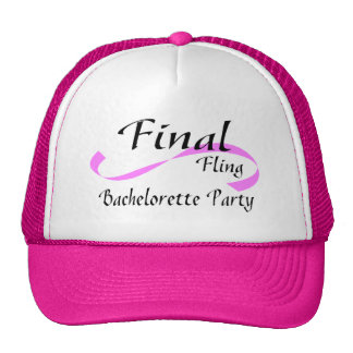 Fiesta final de Bachelorette del Fling Gorras