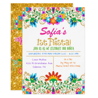 mexican fiesta birthday invitations & announcements | zazzle, Birthday invitations