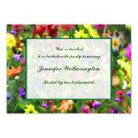Fiesta floral de Bachelorette de las impresiones Invitación 12,7 X 17,8 Cm