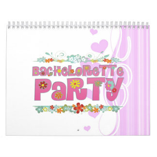 fiesta floral del bachelorette del hippie de las f calendarios de pared