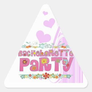 fiesta floral del bachelorette del hippie de las pegatina triangular