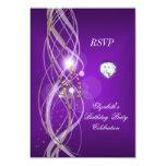Fiesta floral del diamante del oro púrpura anuncio