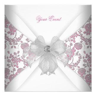 Fiesta floral rosado blanco del arco de la joya de anuncio personalizado
