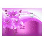 Fiesta floral rosado elegante de la joya del anuncio