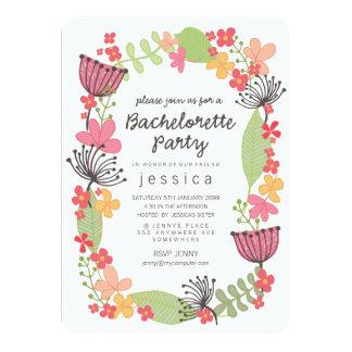 Fiesta floral rústico de Bachelorette de la Invitación 11,4 X 15,8 Cm