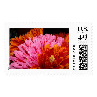 Fiesta Flowered Postage Stamps