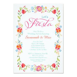 Fiesta Flowers Wedding Shower Invitation 5x7