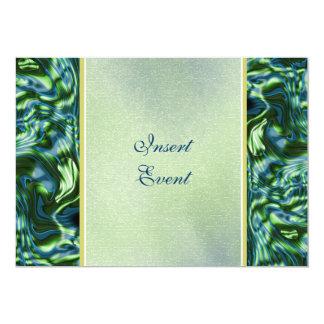 Fiesta formal elegante verde del trullo invitación