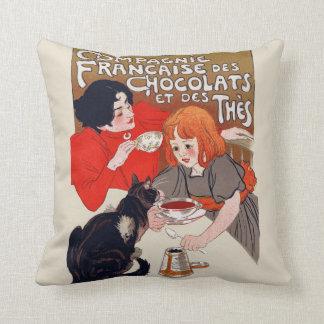 Fiesta francés del chocolate almohadas