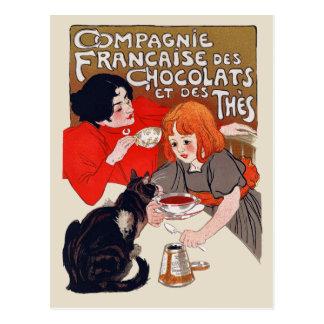 Fiesta francés del chocolate postal