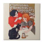 Fiesta francés del chocolate tejas  ceramicas