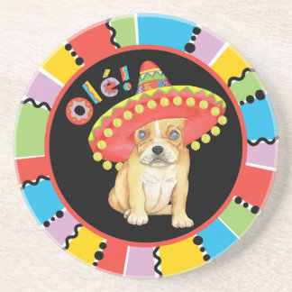 Fiesta Frenchie Coaster
