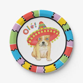 Fiesta Frenchie Paper Plate