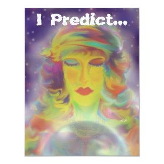 """Fiesta gitano de Halloween de la predicción Invitación 4.25"""" X 5.5"""""""
