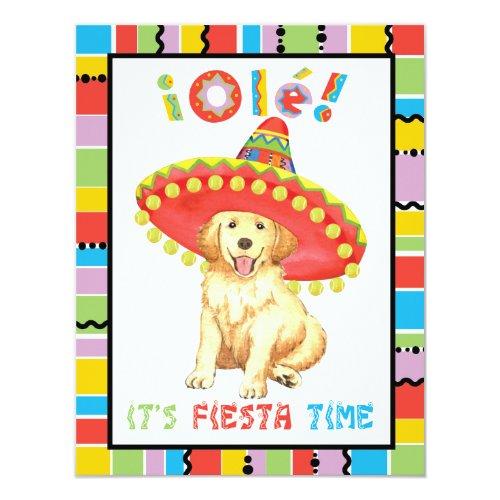 Fiesta Golden Invitation